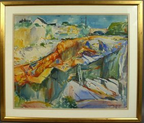22: SIGNED ALFRED HAYWARD, THE QUARRY, W/C, 1920