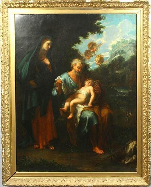 181: 18th/19th C. ITALIAN SCHOOL, HOLY FAMILY, O/C
