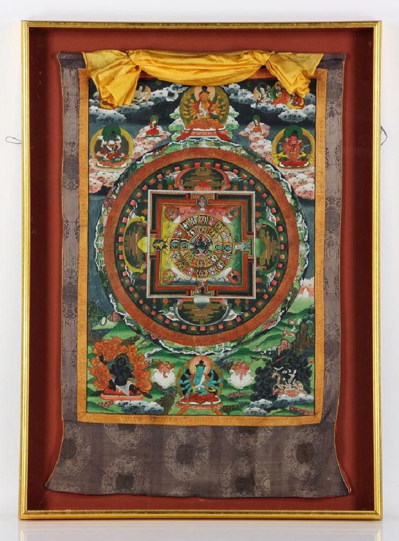 Tibetan Thangka Painting on Cloth