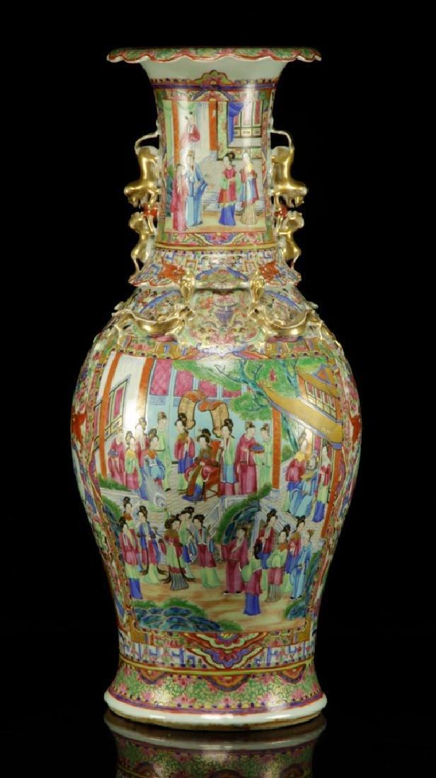 19th C. Chinese Rose Mandarin Vase
