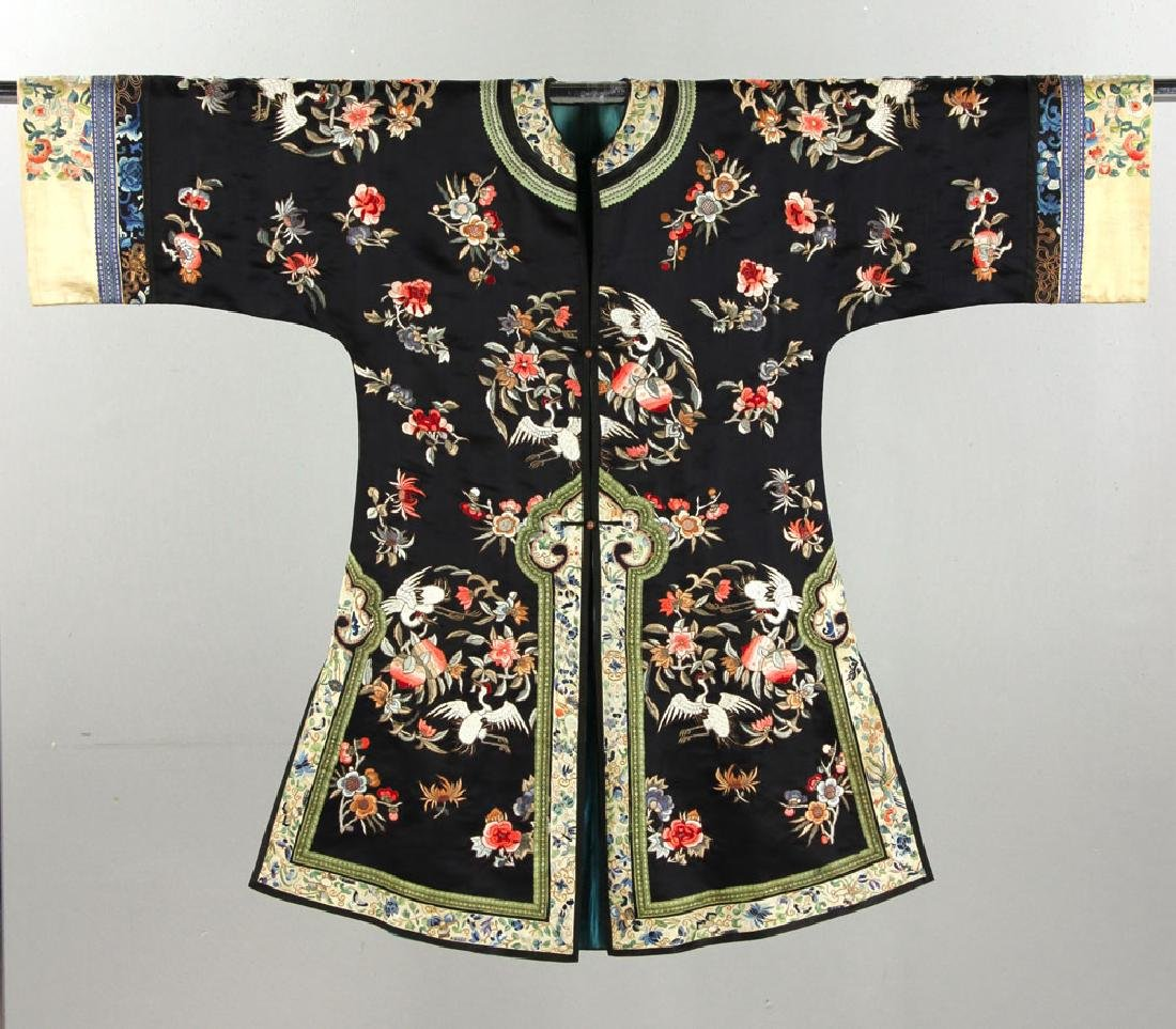 19th C. Chinese Embroidered Ladies' Robe