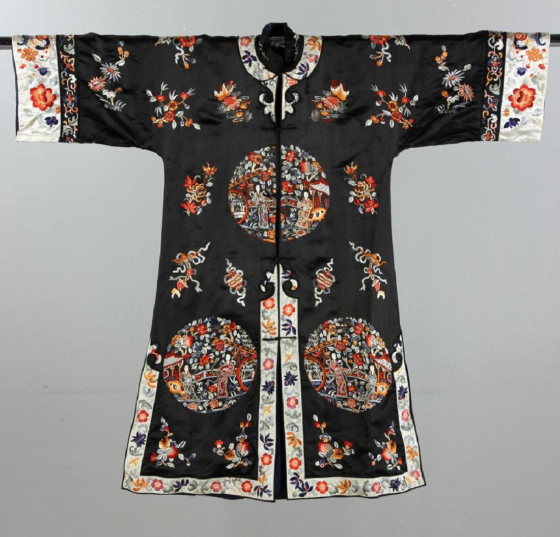 20th C. Chinese Embroidered Ladies' Robe