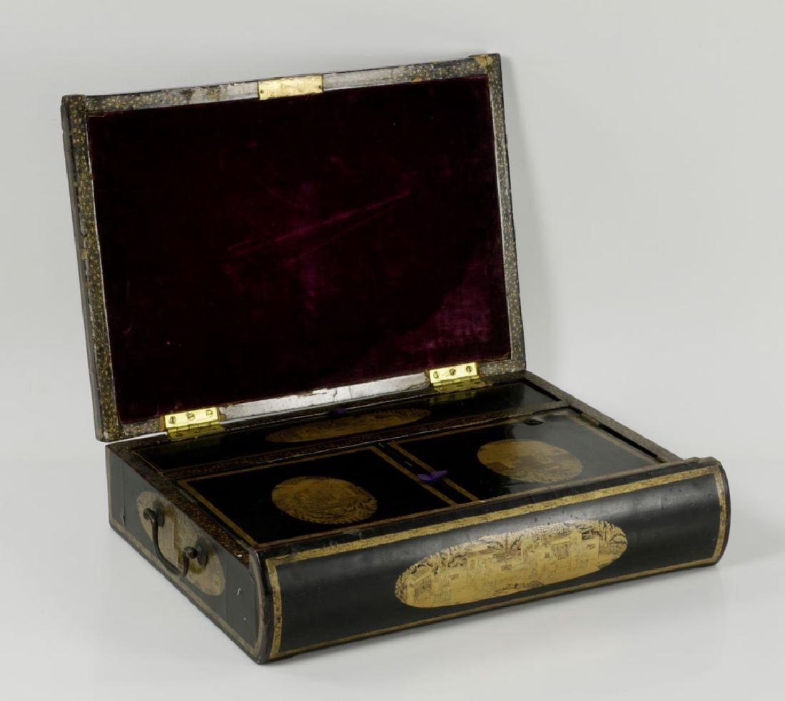 Chinese Export Lacquered Scholar Box