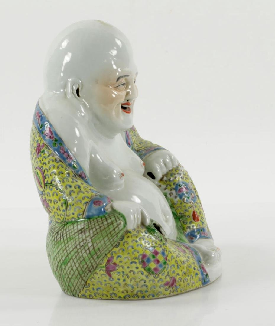 Chinese Famille Rose Porcelain Budai (Happy) Buddha - 2