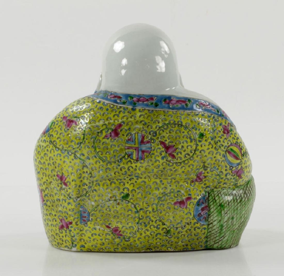 Chinese Famille Rose Porcelain Budai (Happy) Buddha - 3