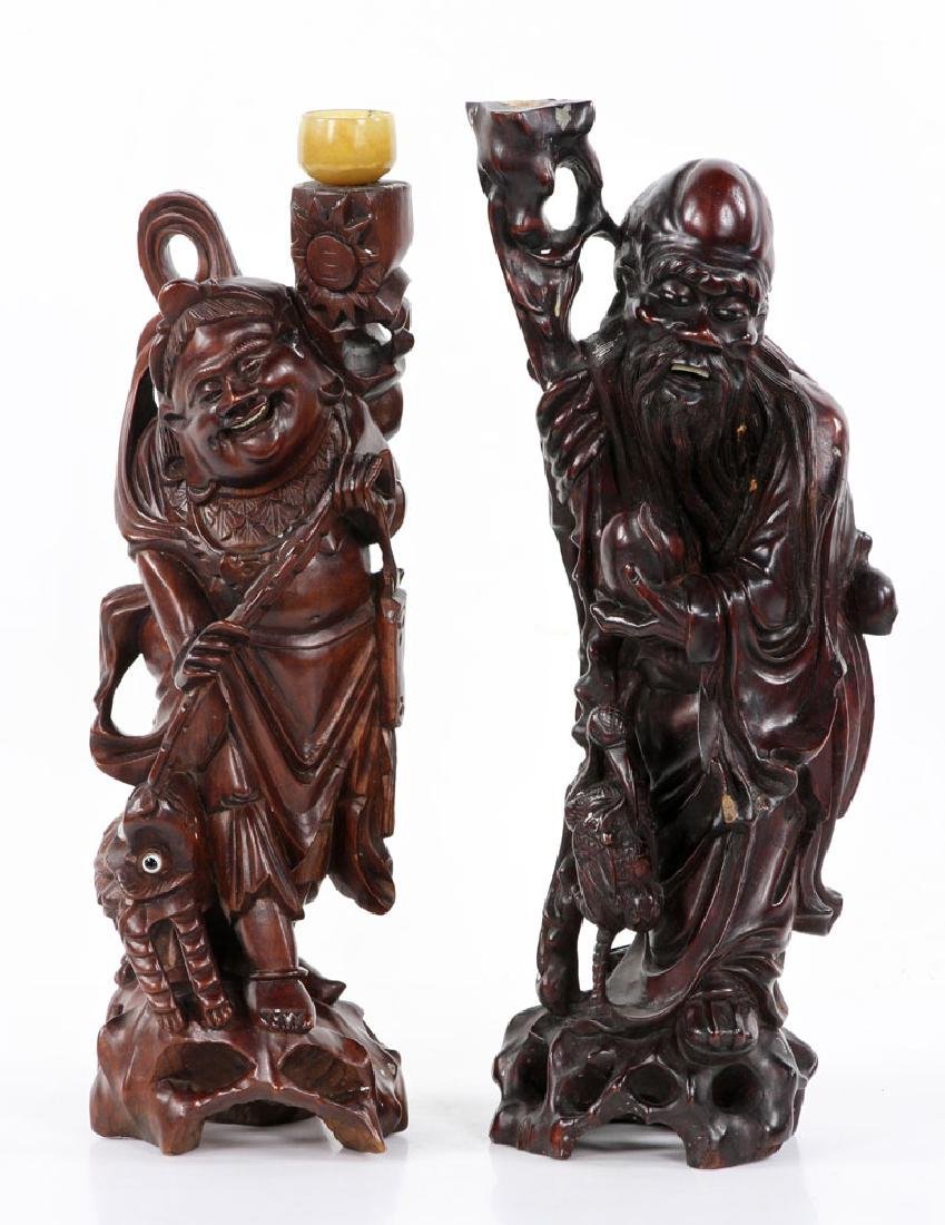 Two Chinese Wood Carvings