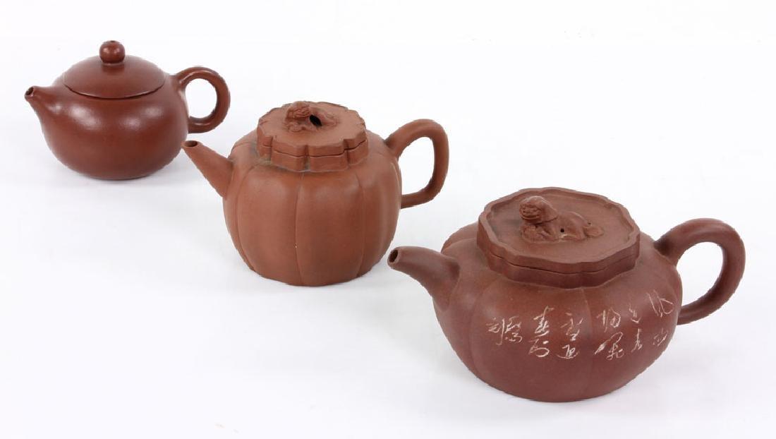 Three Yixing Pottery Teapots