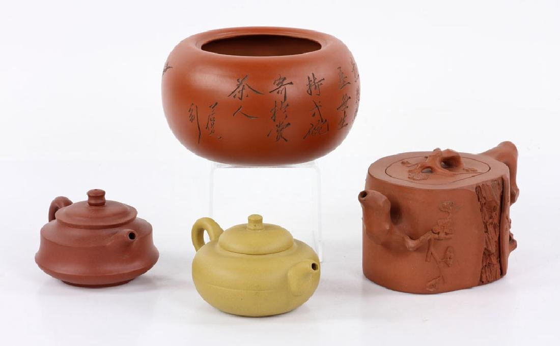 Four Chinese Yixing Pottery Items