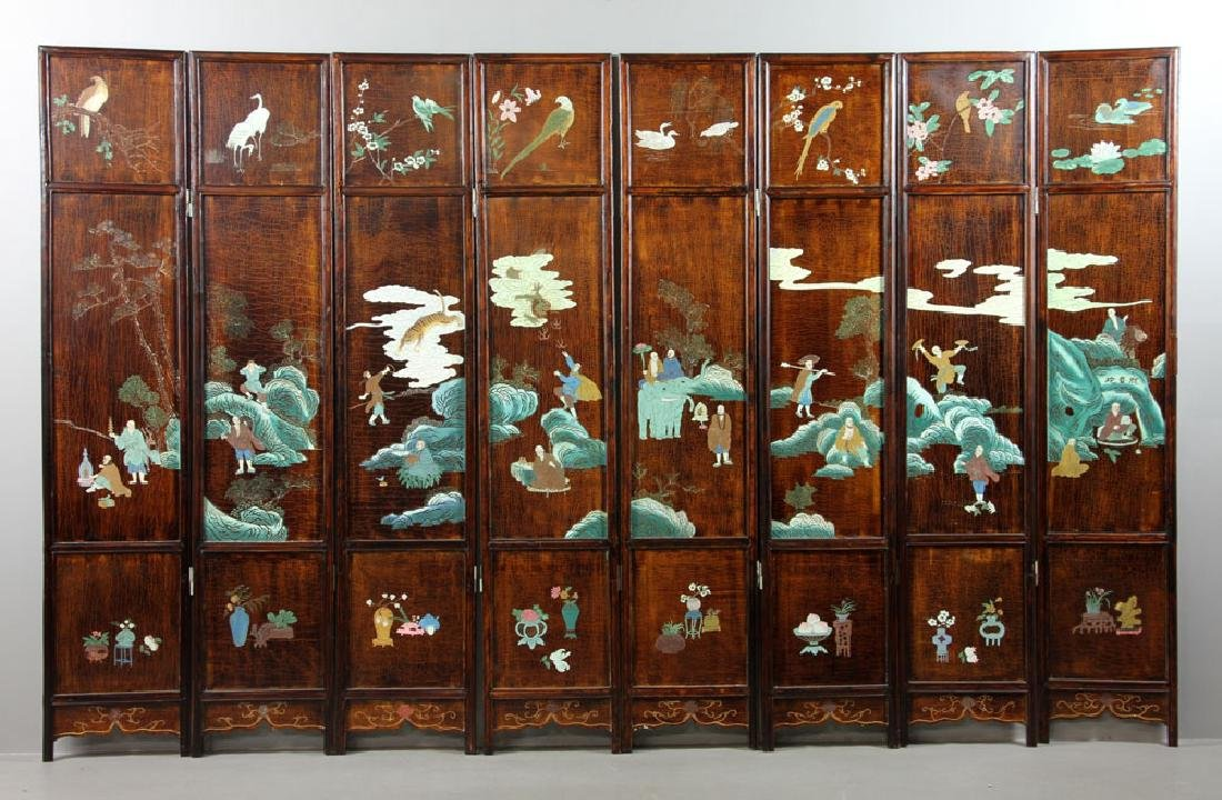 Chinese Eight Panel Privacy Screen