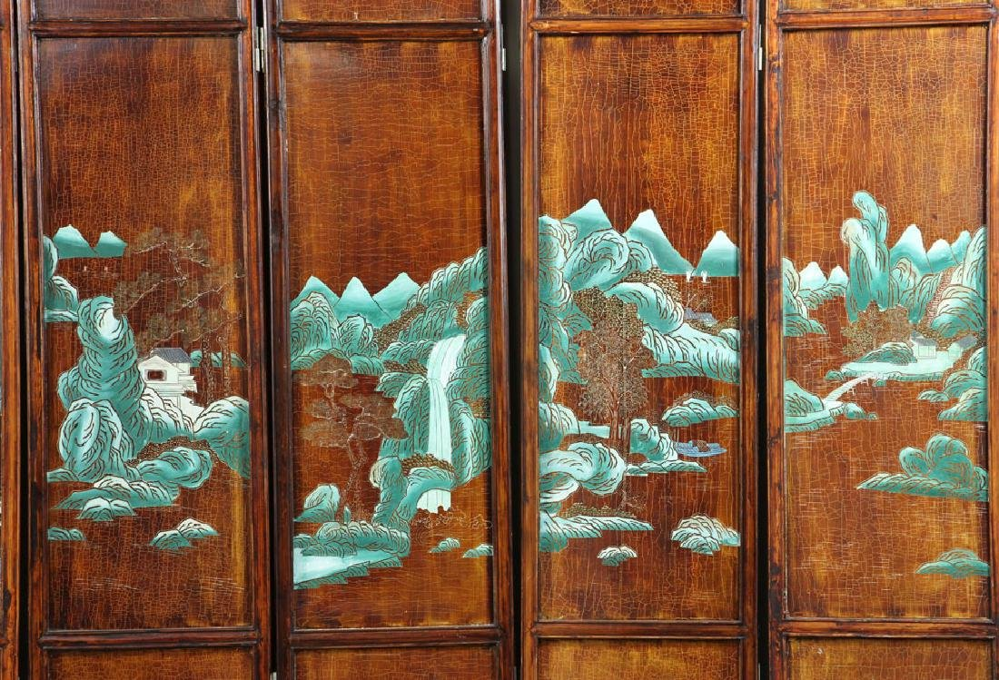 Chinese Eight Panel Privacy Screen - 8