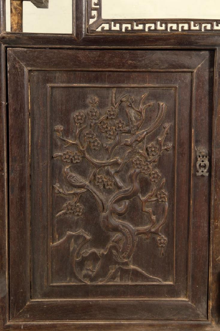 Antique Chinese Teak Wood Cabinet - 5