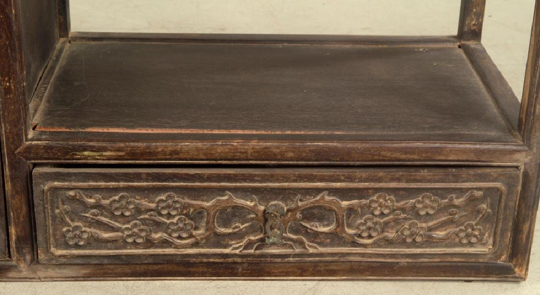 Antique Chinese Teak Wood Cabinet - 6