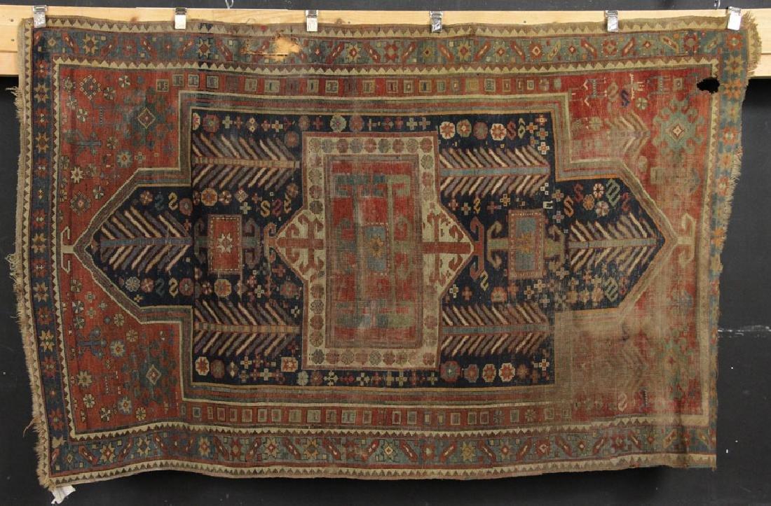 Antique Caucasian Kazak Carpet