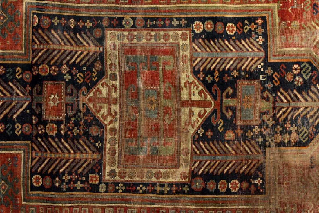 Antique Caucasian Kazak Carpet - 2