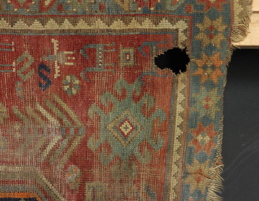 Antique Caucasian Kazak Carpet - 4