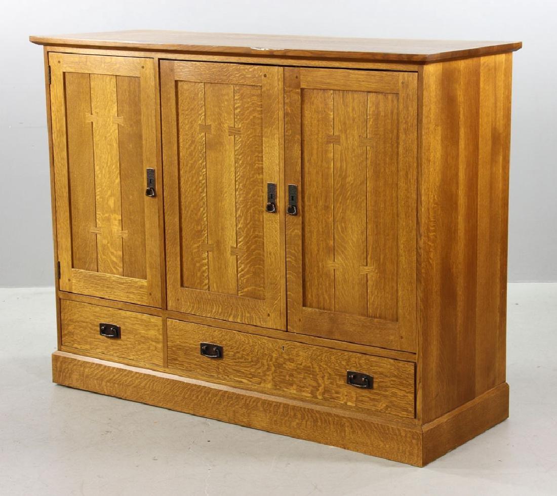 Stickley Quarter Sawn Oak Cabinet - 6