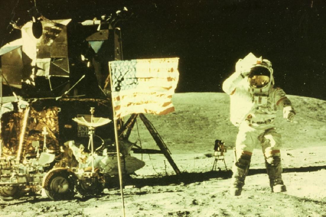 """Apollo 16 """"Leaping Navy Salute"""", Signed Photo - 3"""