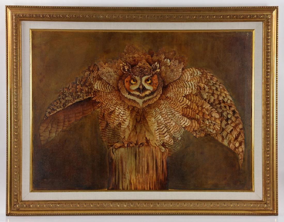 Hauck, Barn Owl, Oil on Canvas