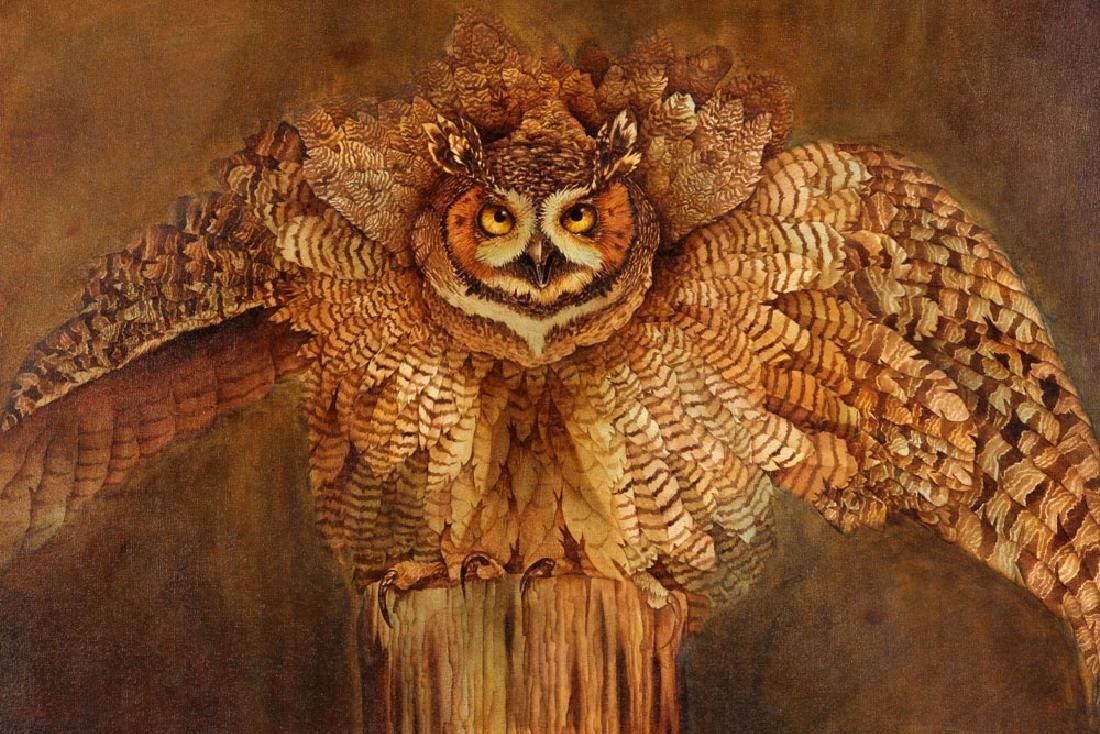 Hauck, Barn Owl, Oil on Canvas - 2