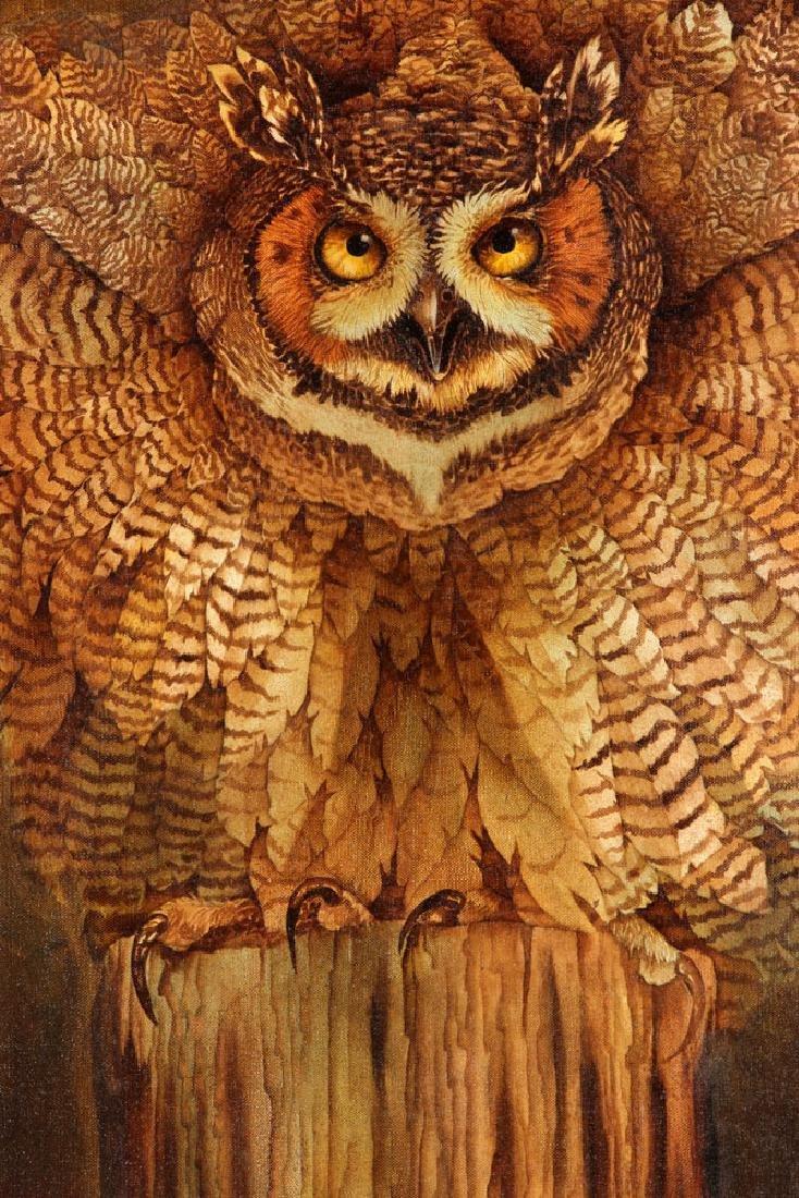 Hauck, Barn Owl, Oil on Canvas - 3