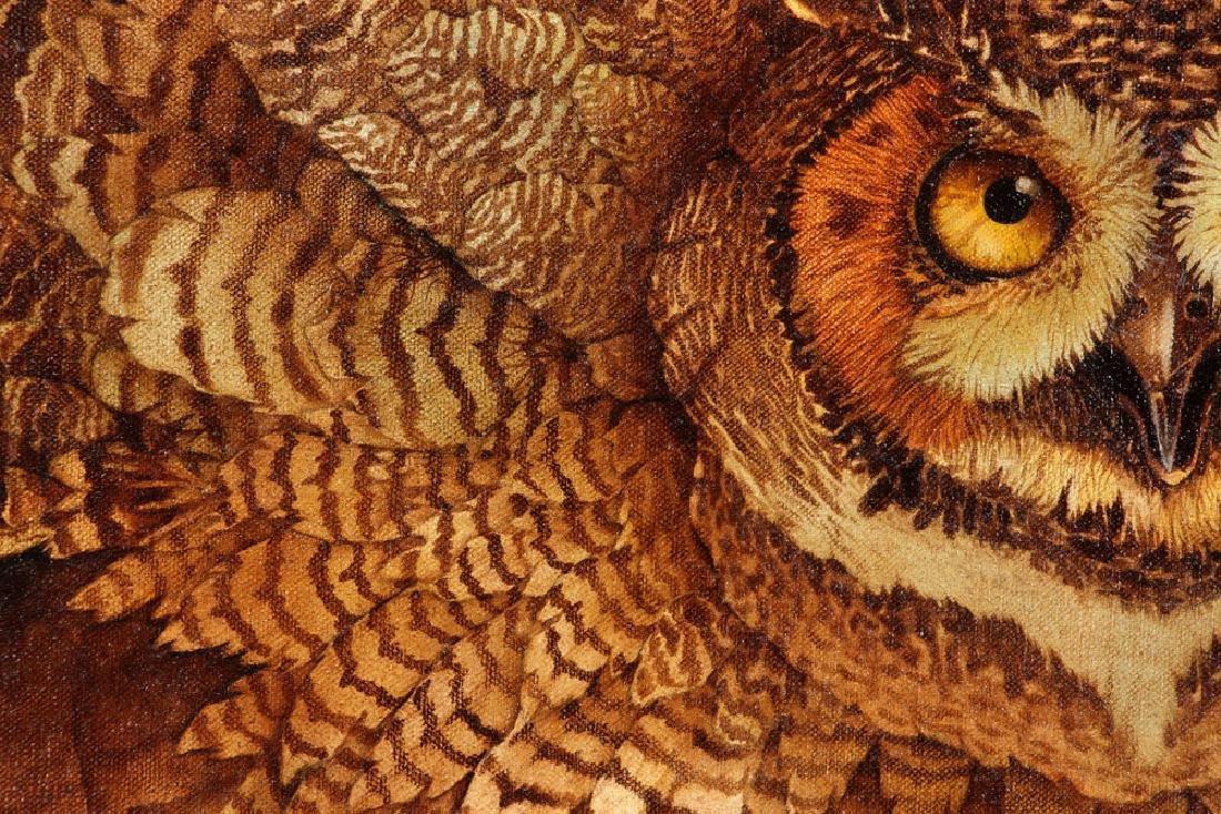 Hauck, Barn Owl, Oil on Canvas - 4