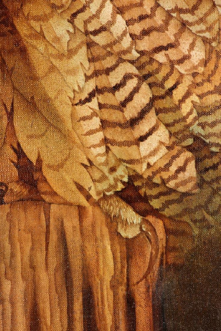 Hauck, Barn Owl, Oil on Canvas - 5