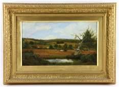 Trappes, Farm Scene, Oil on Canvas