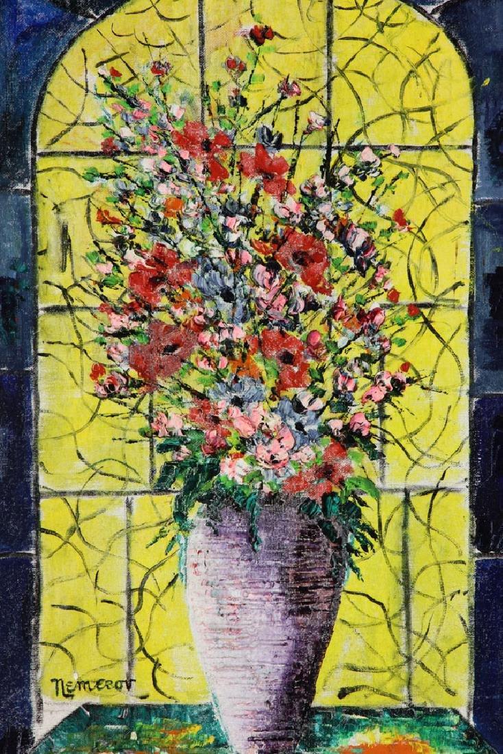 Nemerov, Floral Still Life, Oil on Canvas - 2