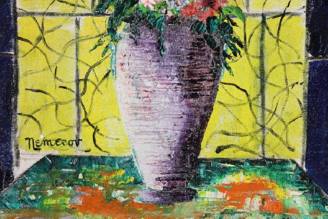 Nemerov, Floral Still Life, Oil on Canvas - 5