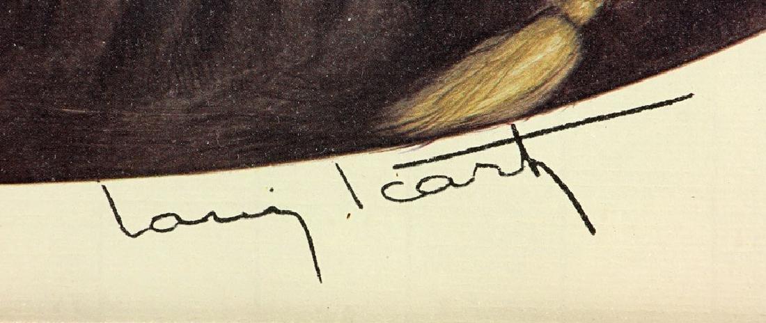 Louis Icart, Woman Reclining in Furs, Print - 4
