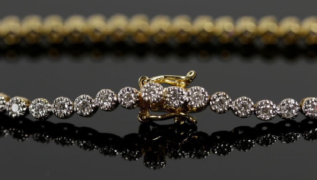 18K Yellow Gold and Diamond Bracelet - 2