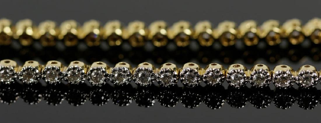 18K Yellow Gold and Diamond Bracelet - 3