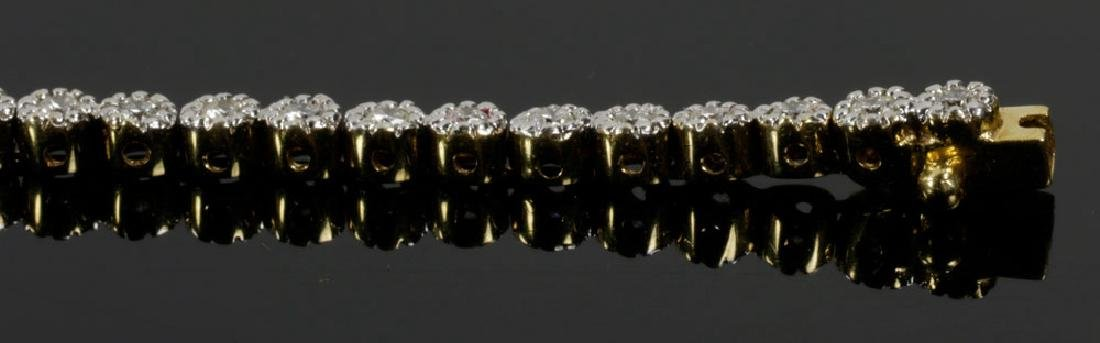 18K Yellow Gold and Diamond Bracelet - 5