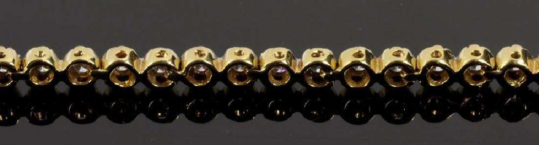 18K Yellow Gold and Diamond Bracelet - 6