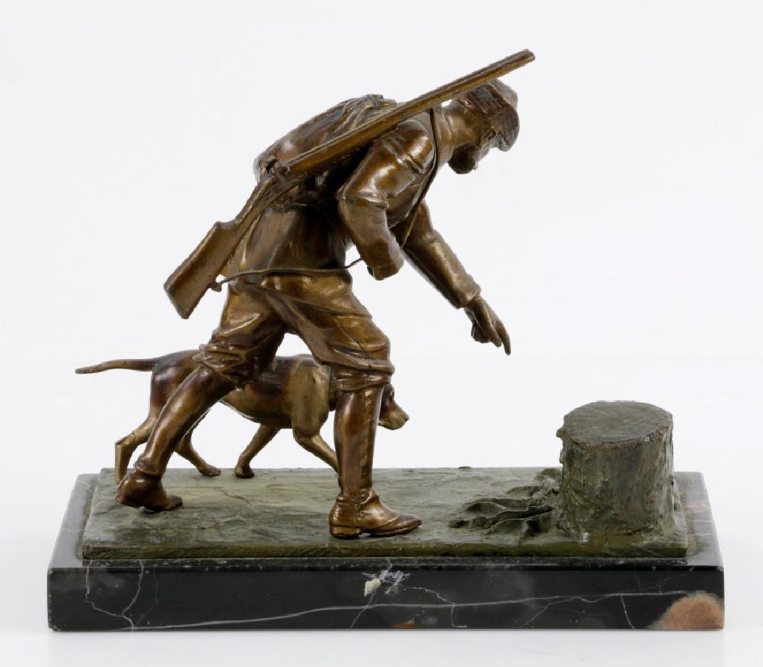 Bronze Sculpture on Marble Base - 2