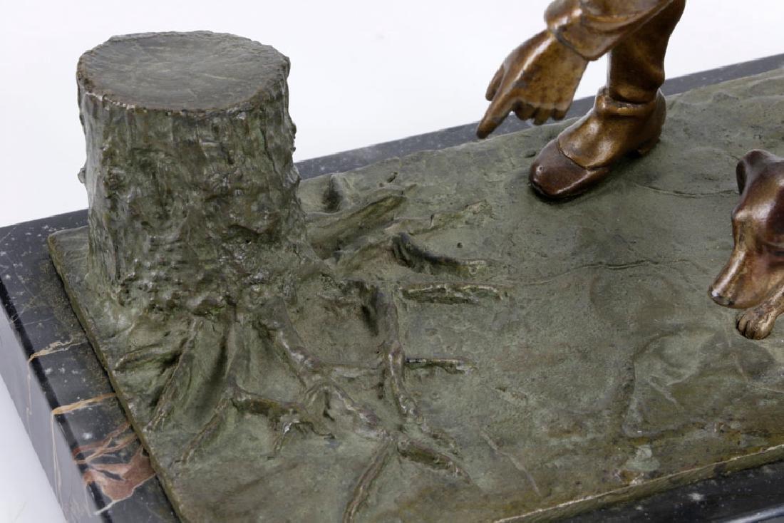 Bronze Sculpture on Marble Base - 4