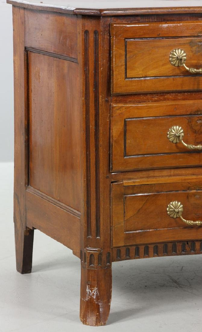 18th C. Italian Carved Three Drawer Commode - 5