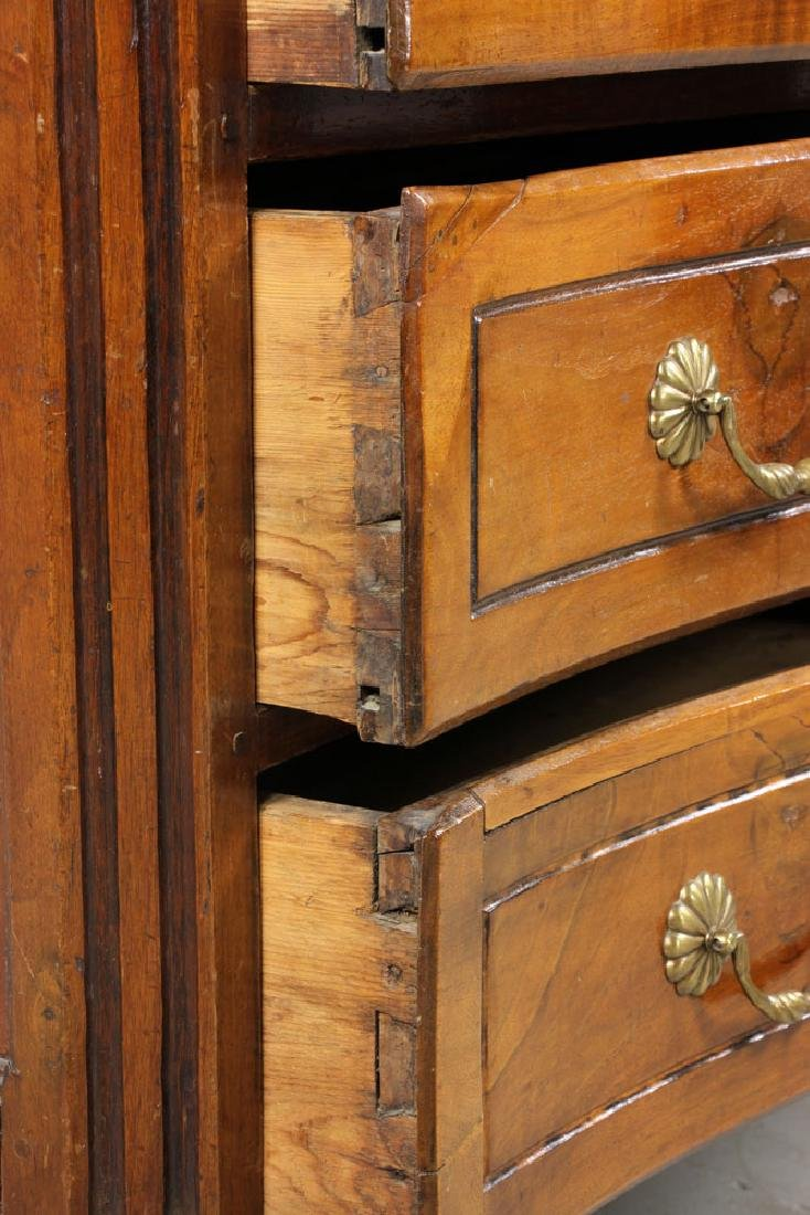 18th C. Italian Carved Three Drawer Commode - 8