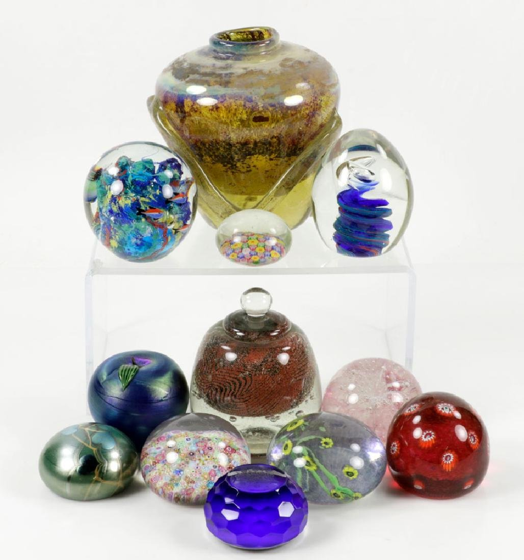 Large Assorted Glass and Paperweight Lot