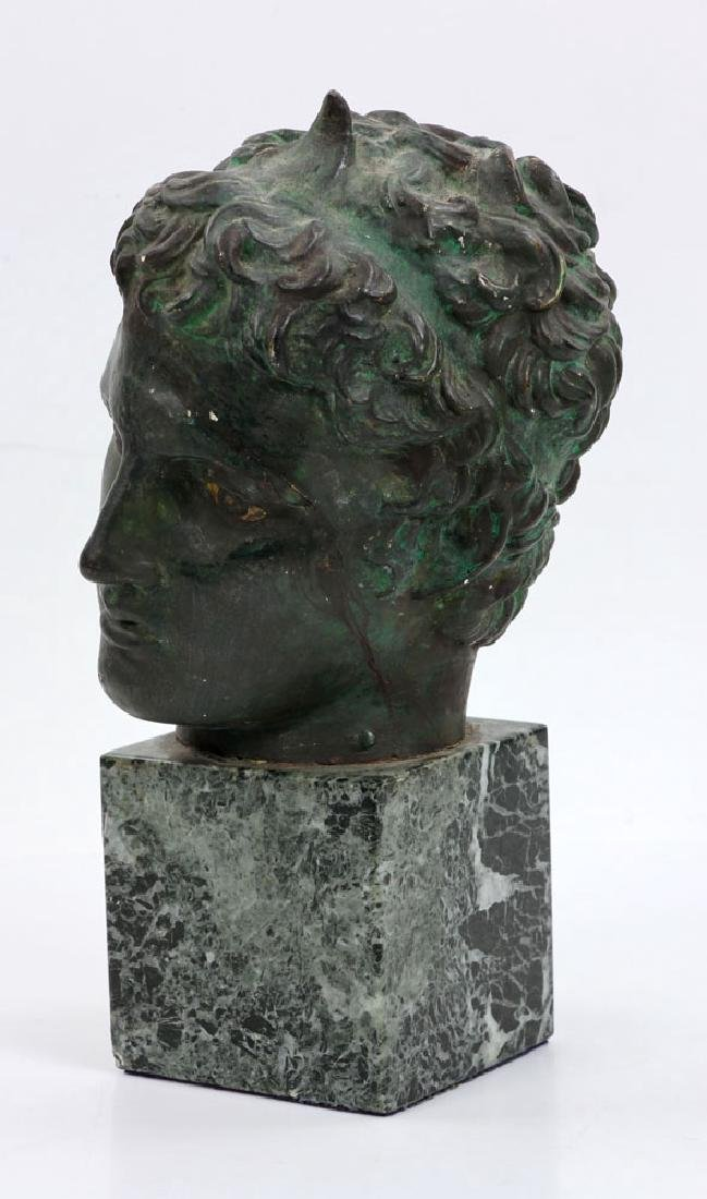 Classical Greek Painted Bust on Marble - 2