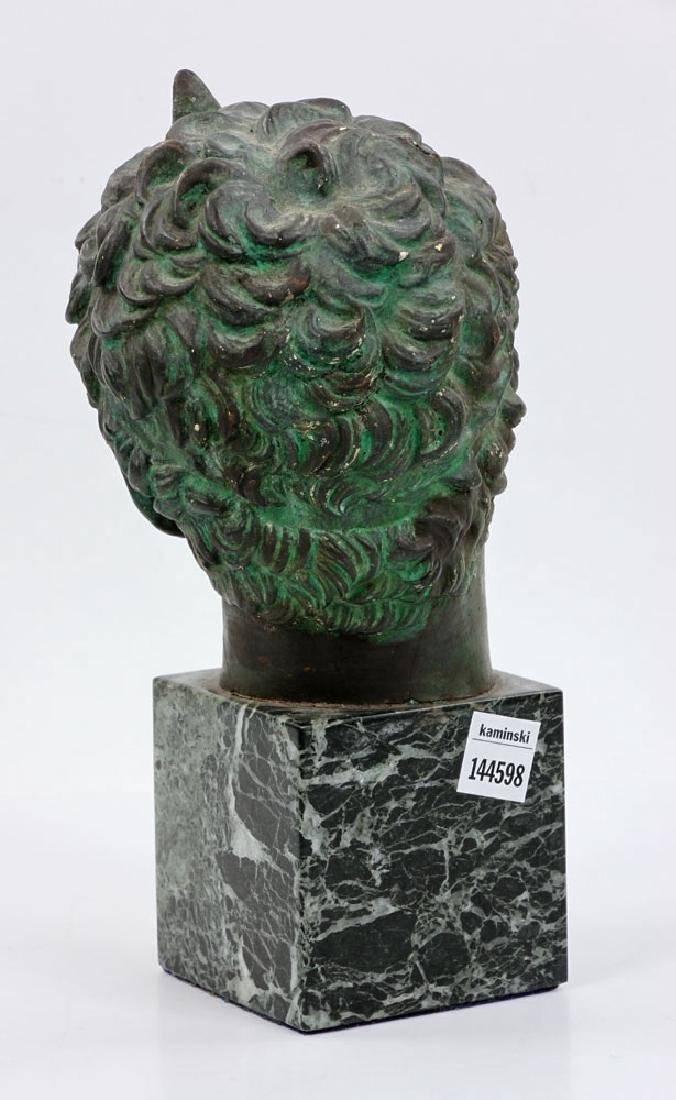 Classical Greek Painted Bust on Marble - 3