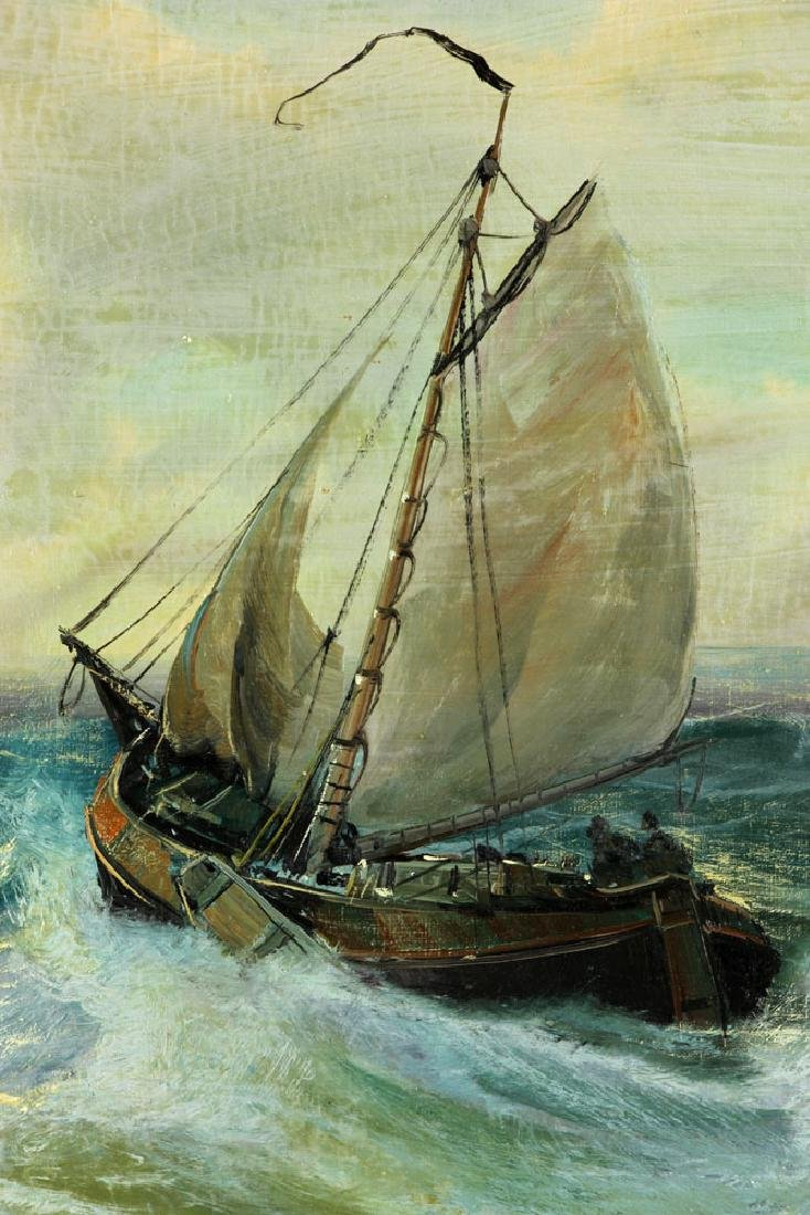 Ship at Sea, Oil on Canvas - 3
