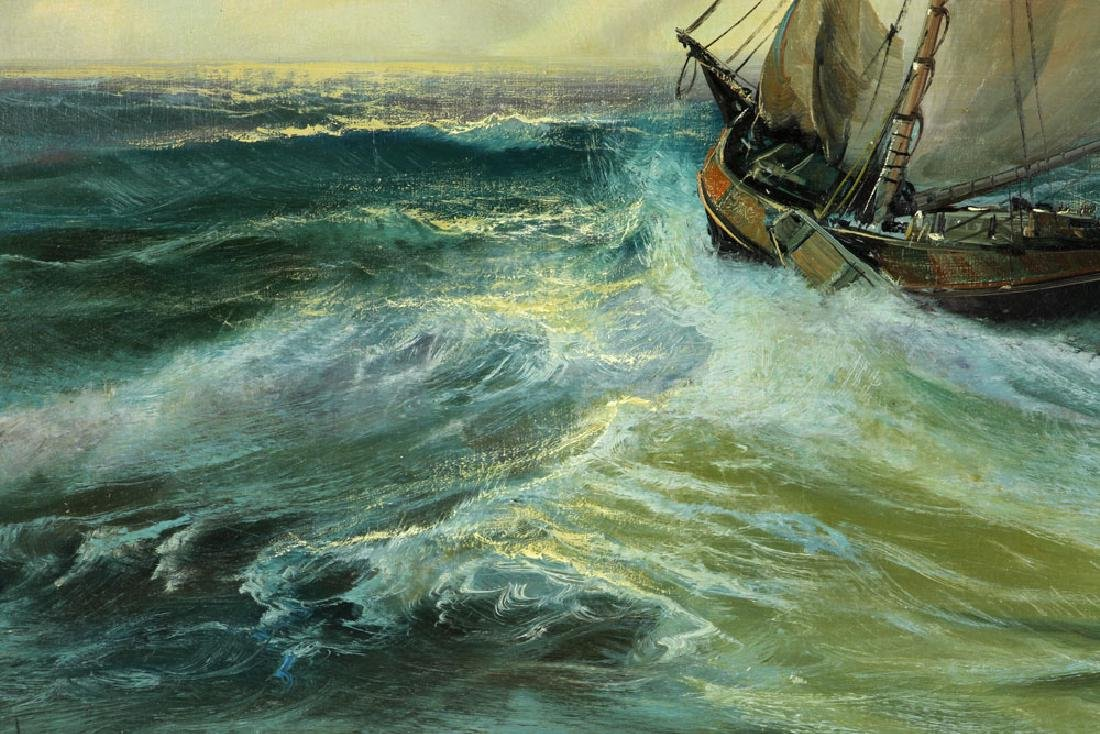 Ship at Sea, Oil on Canvas - 4