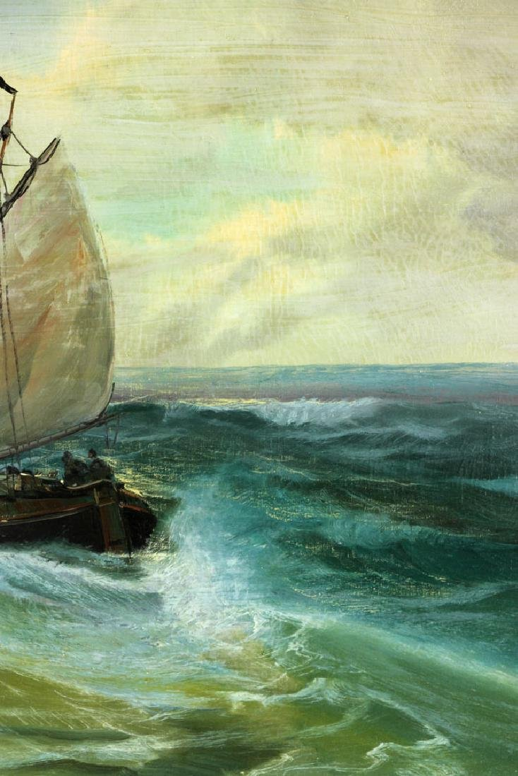 Ship at Sea, Oil on Canvas - 5