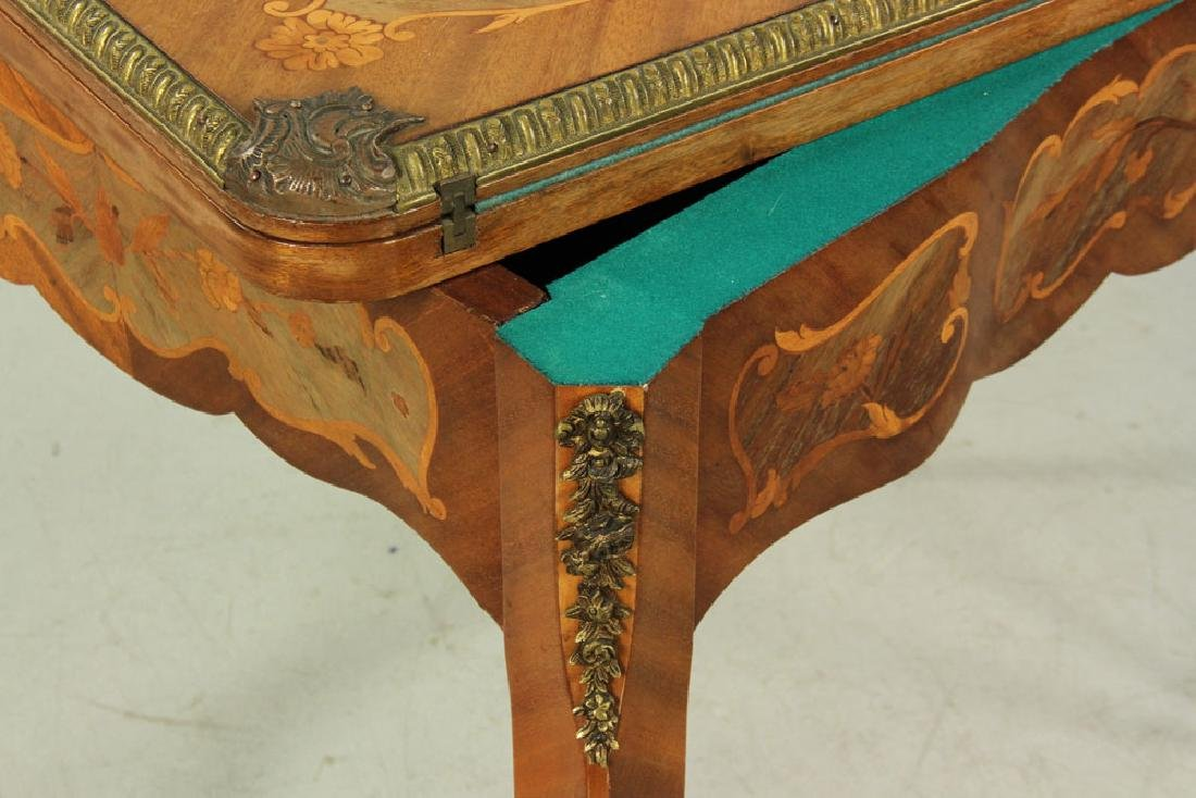 Louis XVI Style Inlaid Card Table - 5