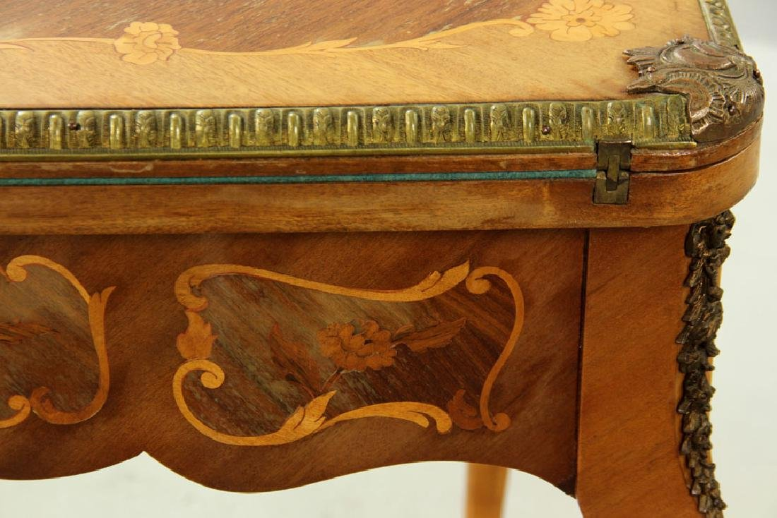 Louis XVI Style Inlaid Card Table - 8