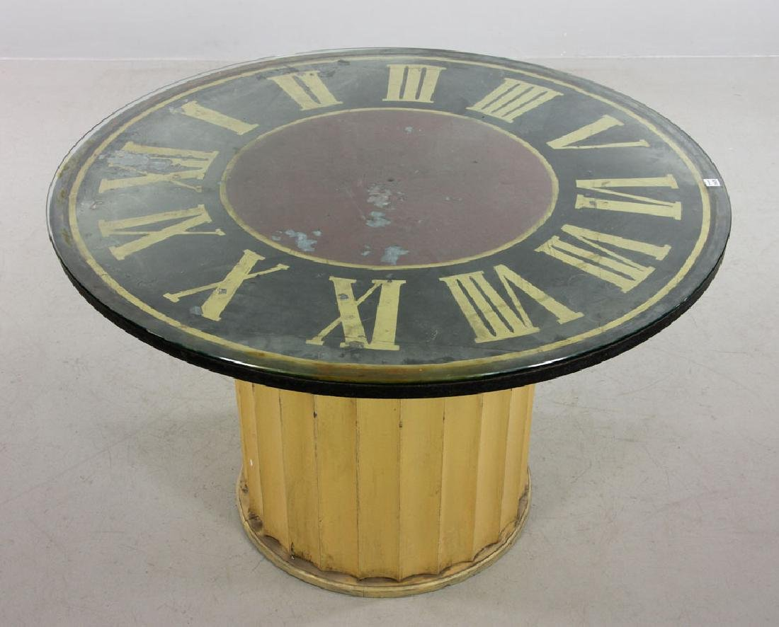 Decorative Clock Face Dining Table