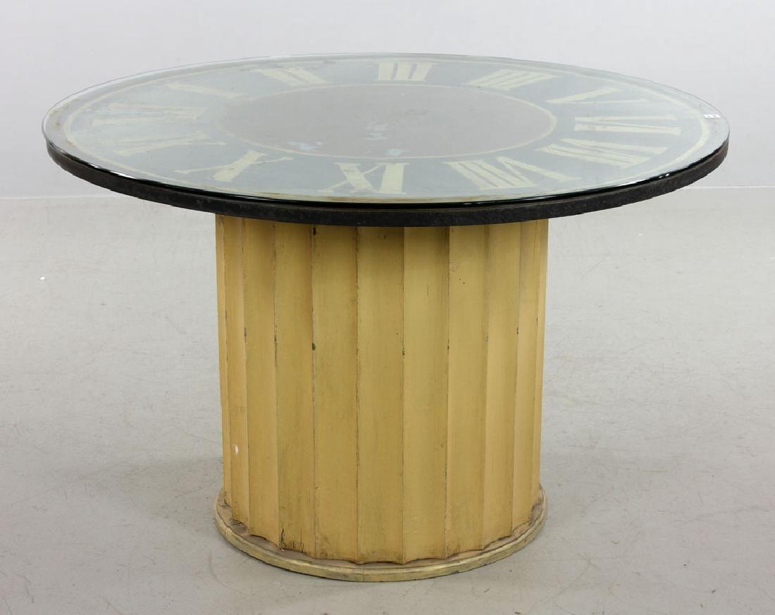 Decorative Clock Face Dining Table - 2