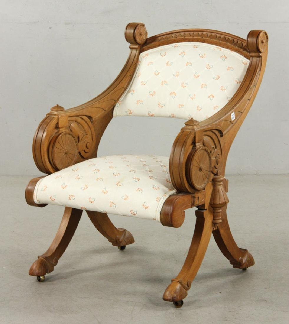 19th C. Victorian Armchair - 6