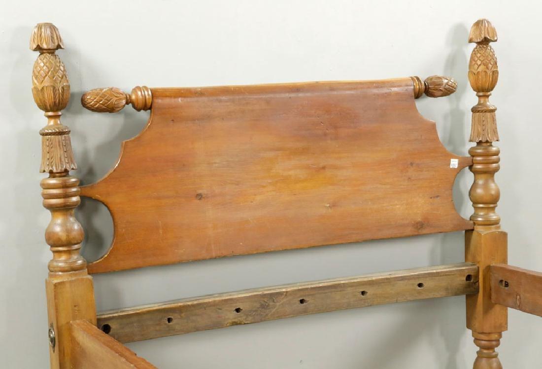 19th C. Cherry & Pine Rope Bed - 4